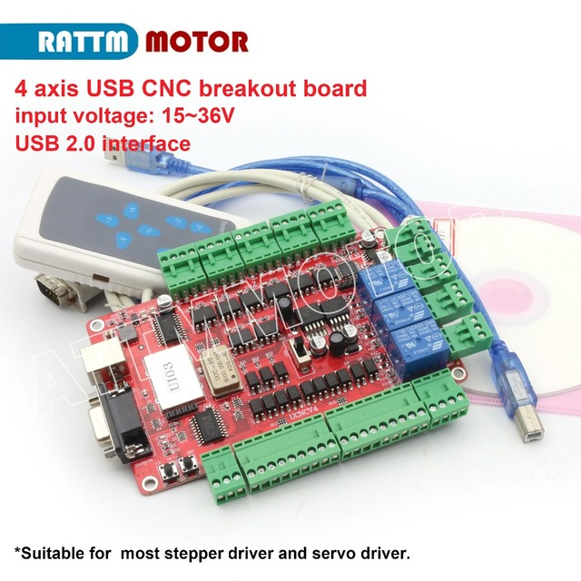 US $49 0 |USB Port!4 axis USB CNC breakout board interface board USBCNC  with Handle control-in Motor Driver from Home Improvement on Aliexpress com  |