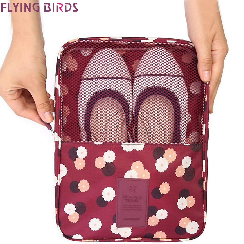 FLYING BIRDS Storage shoe bag Cosmetic Bags Makeup Bag Cosmetic case Dumpling Large Women Packages Waterproof bag LM4094fb polo authentic golf standard packages bag pulley drawbars travel professional lady rod bag standard cue packages nylon with pu