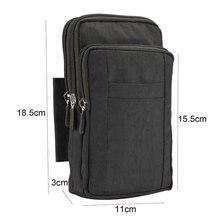 Boucho universal grande saco de telefone esportes ao ar livre caminhadas correndo cinto saco carteira bolsa caso com zíper para todos os telefones