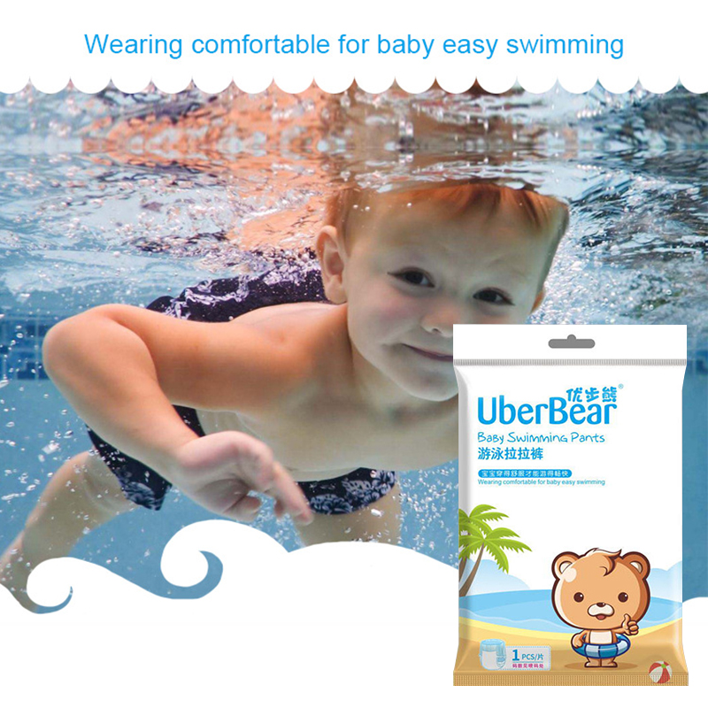 Disposable Infant Leakproof Waterproof Swimming Nappies Adjustable Newborn Baby Swim Diapers Cartoon Bear Diaper For Boys Girls