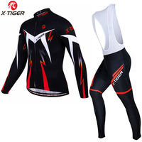 2016 X Tiger Brand Modesti Winter Thermal Fleece Cycling Clothing Set Maillot Cycling Jerseys Set Keep