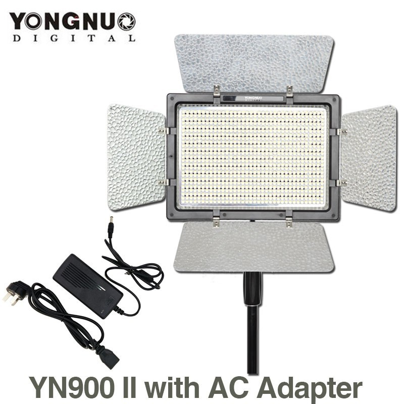 YONGNUO YN900 5500K LED Video Light Panel with AC Power Adapter High CRI 95 Wireless Bluetooth Control YN-900 Photography Light crest 3d white whitestrips professional effects teeth bleaching gel oral hygiene teeth whitening strips 3box