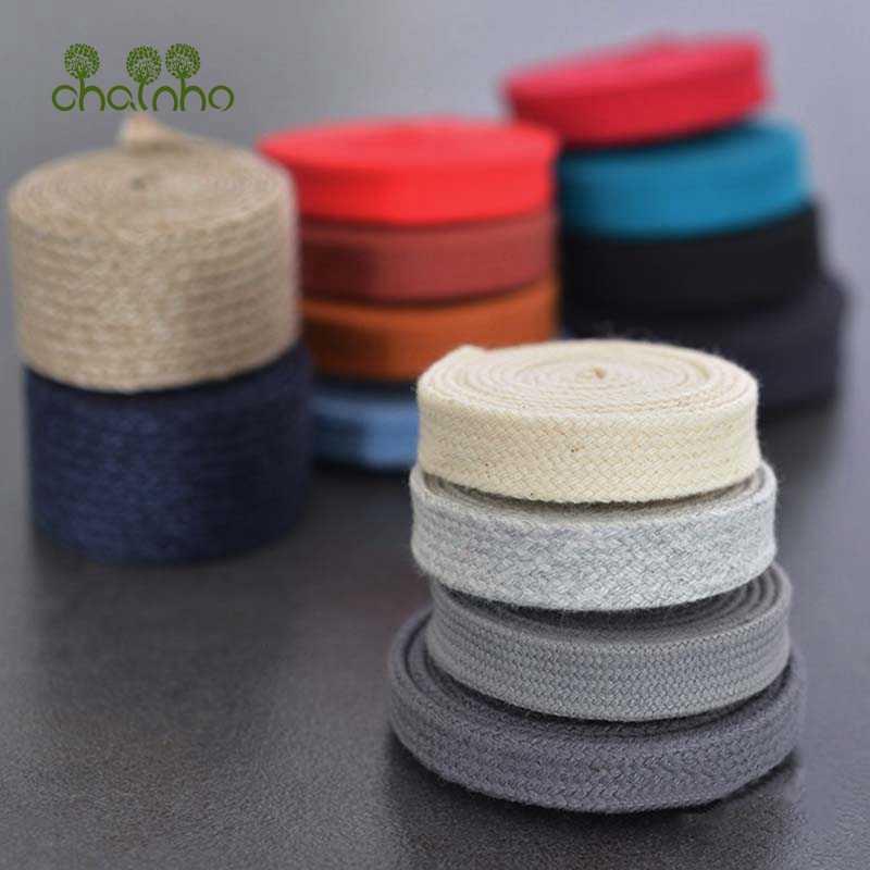 Chainho, Algodão Cor Corda Lisa, Handwork DIY Cordão, Corda de Algodão Liso para Sacos, Vestuário, sapatos, Calças, Bonés/1 6yard/piece