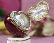 Luxury Egg Carving Heart Shape Jewelry Music Box for Sale Wedding Souvenir Hand Crank Music Box Women Girl Valentine's Gift