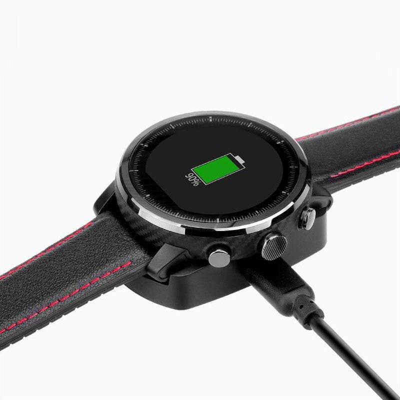 USB Caricatore Del Bacino Adattatore per Amazfit 2 Stand di Ricarica Huami Amazfit 2 s Smart Watch in Cavo del Caricatore + 22mm metallo/cinghia Del Silicone