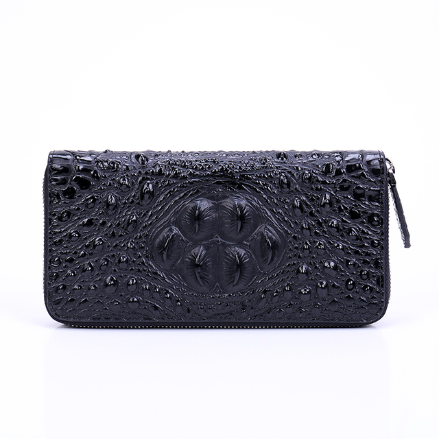 Luxury Alligator Skin Patterned Durable Genuine Leather Wallet