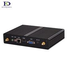 Без вентилятора сливовый компьютер четырехъядерный процессор Celeron J1900 неттоп Mini PC с HDMI VGA Dual Core N2830 N2810 Windows 7 Мирко Настольный HTPC