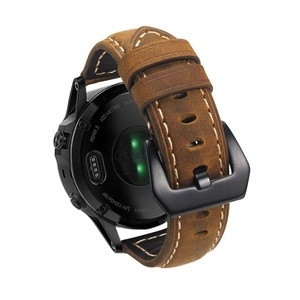 Image 5 - 22 مللي متر حزام جلد طبيعي ساعة ذكية المعصم الفرقة حزام ل Garmin Fenix 5/Fenix 5 Plus/Forerunner 935/Quatix 5 (لا تناسب سريعة)