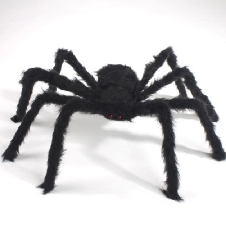 75cm iki 200cm Super Big Spider Plush Helovinas papuošalai namų dekoravimui Party Horror House Decora o festa Supplies Favor