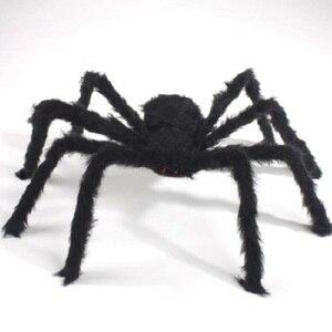 75cm to 200cm Super Big Spider Plush Halloween Decorations For Home Decoration Party Horror House Decora o festa Supplies Favor