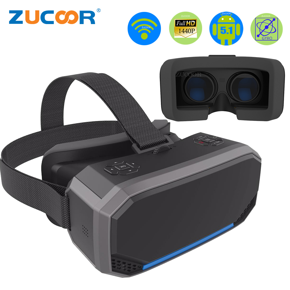2b8c8411e212 3D VR Box Virtual Reality Goggles H2 Android 2560 1440P All in one VR  Glasses
