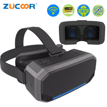 3D VR коробка виртуальной реальности очки H2 Android 2560*1440 P все в одном VR Очки шлем Видео Movie игры Беспроводной bluetooth геймпад