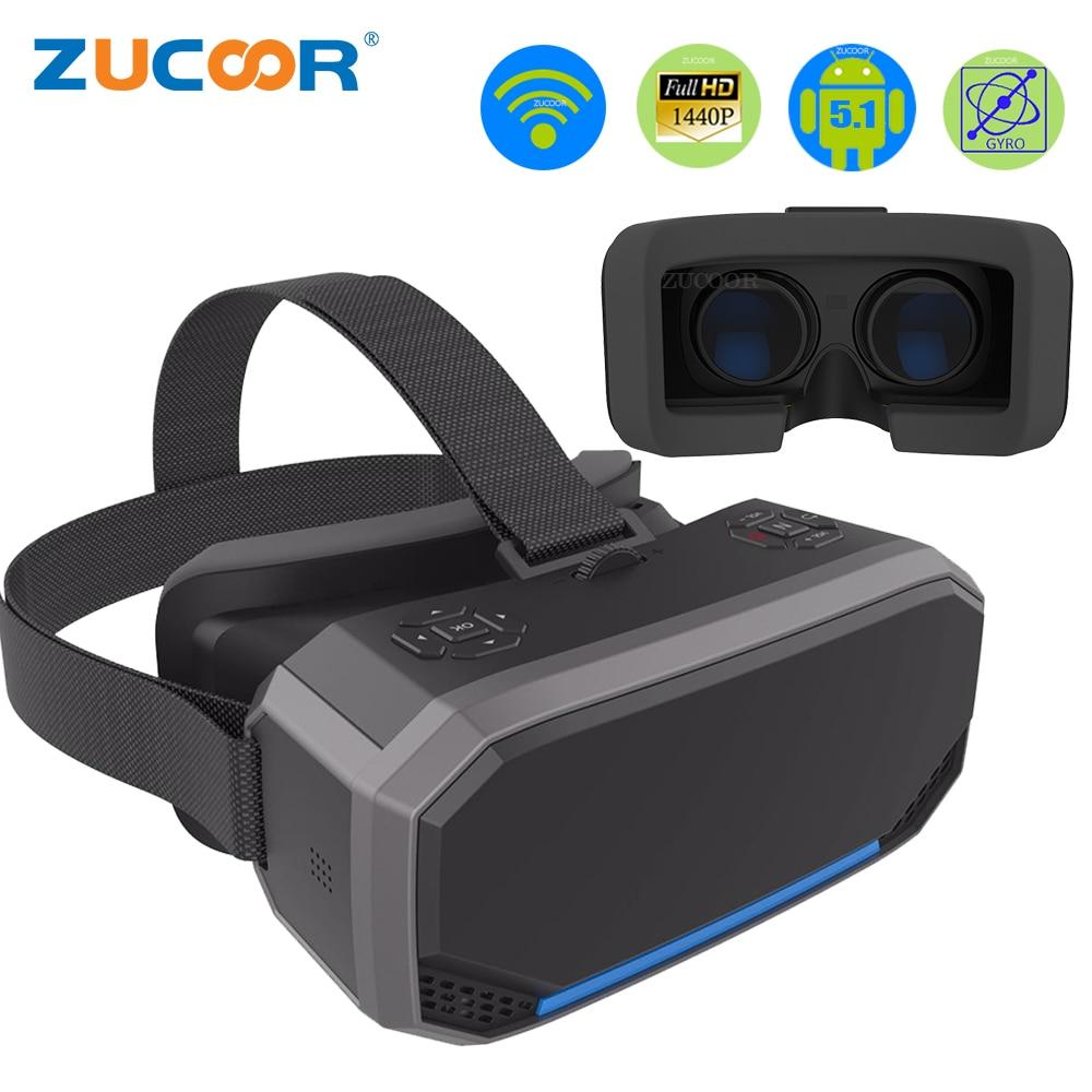 3D VR коробка виртуальной реальности очки H2 Android 2560*1440 P все в одном VR очки шлем видео фильм игры Беспроводной Bluetooth геймпад