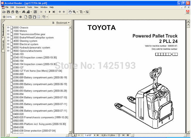 Bt Forklift Parts Catalog For Toyota In Code Readers