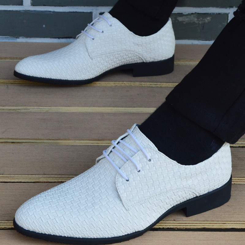 Men Shoes Luxury Brand Classic Fashion Formal Wedding Dress Shoes for Men Oxfords Zapatos Hombre Weaving