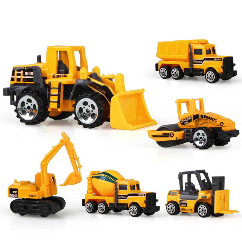 New  Children Toy Car 1:64 Medium Size Imitation Inertia Multi-type Engineering Vehicles Kids Excavator Model Car Toys 1