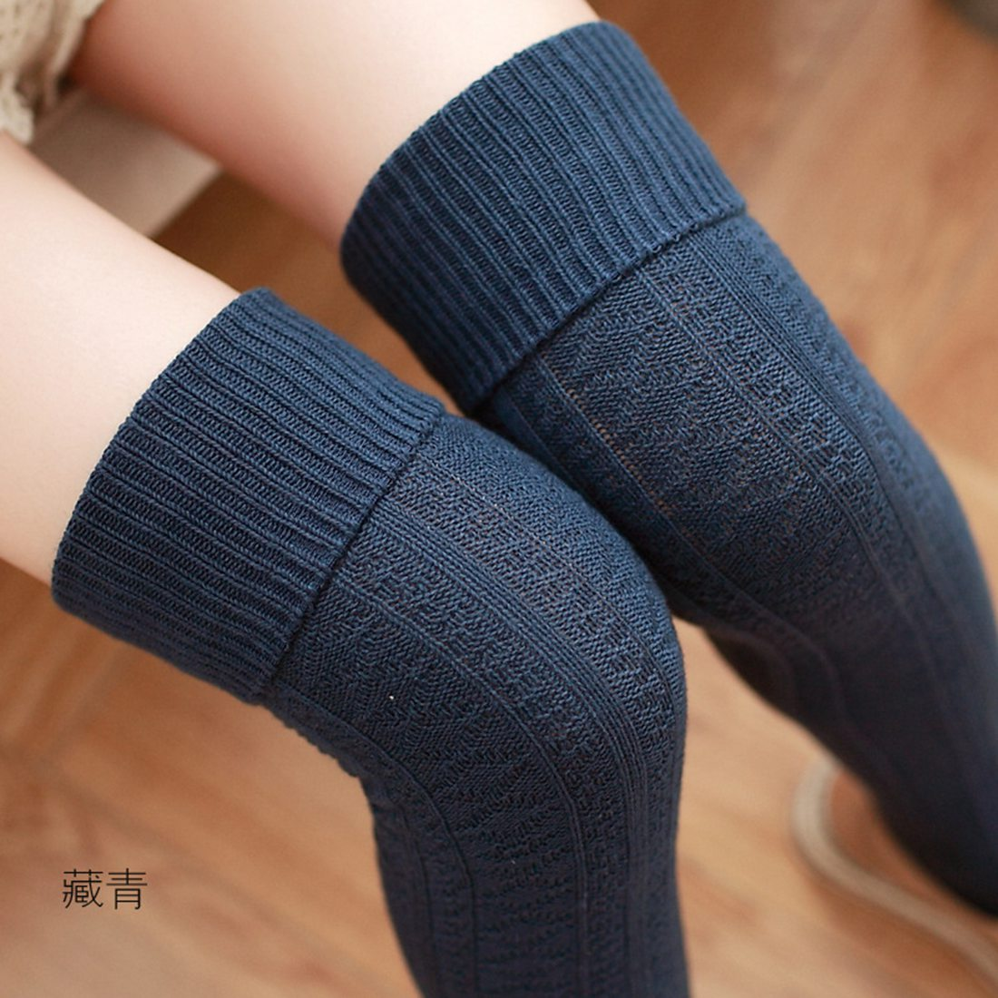 Stockings Women Knee Socks Cotton Fitness Medias Sexy Stockings Female Warm Knit Long Socks Thigh High Socks Knee High Stocking