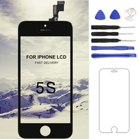 1PCS For Tianma Quality AAA For IPhone 5S LCD Display Touch Digitizer Full Assembly Black White