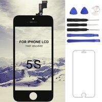1 قطع ل tianma جودة آيفون 5 ثانية lcd شاشة لمس محول الأرقام الجمعية أسود أبيض اللون الكامل lcd touch شاشة عرض