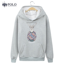 Royal Queen's Polo Team cotton blended man hoodie Hooded Sweatshirt Cartoon printing Fleece Unisex for man woman size Jacket
