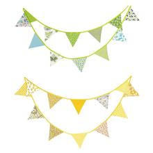 Cotton Banner Hanging Flag Pennant Birthday Party Supplies Decoration Banners