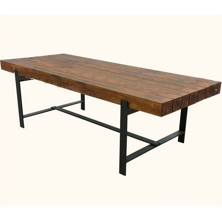Aliexpress  Buy Excellent natural home of American furniture industry  retro style wrought iron dining table wood table desk Cafe Bar from  Reliable ...