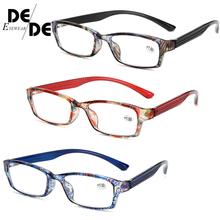 Mężczyźni kobiety okulary do czytania projektant dalekowzroczne okulary vision dla nadwzroczności z zawias sprężynowy okulary punkty + 1 + 1 5 + 2 + 2 5 + 3 + 3 5 tanie tanio Lustro Unisex WHITE Poliwęglan Z tworzywa sztucznego E008-DD DesolDelos Reading Glasses Eyewear