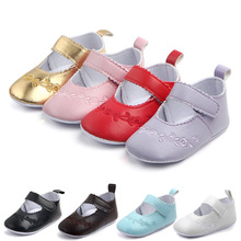 купить Baby Shoes Sweet Casual Princess Girls Baby Kids Pu Leather Solid Crib Babe Infant Toddler Cute Ballet Mary Jane Shoes 0-18M дешево
