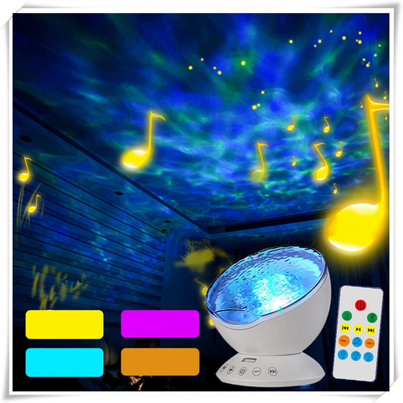 Remote control light fixtures starry sky lamp Ocean Wave Projector Rotating vision light for bedroom and livingroom decoration