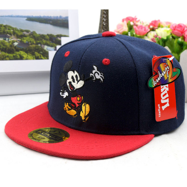 Spring new children's hat Color matching embroidery MM flat along baseball caps Baby hip hop boy and girl sun hat kids Snapback