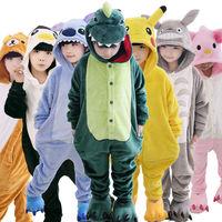 Children Kids Flannel Animal Pajamas Anime Cartoon Costumes Sleepwear Cosplay Onesie Lion Panda