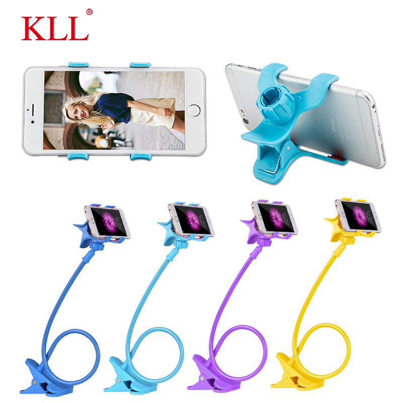 KLL Universal Mobile Phone Lazy Gooseneck Stand Long Arm Flexible Table Phone Holder Car Stand Support smartphone voiture stent