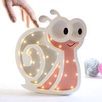 2018 الأوروبية الحصري مخصص الكرتون الحلزون الليل led مصباح الجدار الديكور الأطفال غرفة زخارف سطح الحلي
