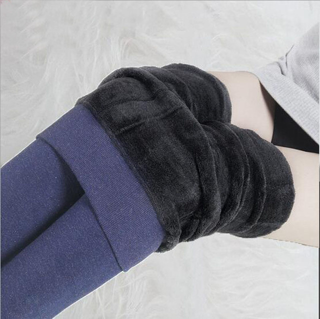 New Autumn Winter Fashion Women's Plus Cashmere Tights High Quality Knitted Velvet Tights Elastic Slim Warm Thick Tights B0010