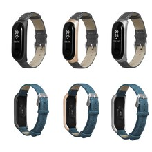 Mi Band 4 3 Leather Strap Bracelet For Xiaomi NFC Mi Band 3 4 Smart Wristband Strap For Xiaomi Miband 3 4 Wrist Pulsera Correa недорого