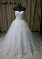 Backless Wedding Dresses Lace With Zipper Buttons Real Picture White Ball Gown Wedding Dress 2016 Design