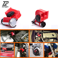 1set Car Two Tone Snail 130db Air Horn 12V car styling For BMW Lada Kia Nissan Toyota Renault Opel Mazda Peugeot Accessories