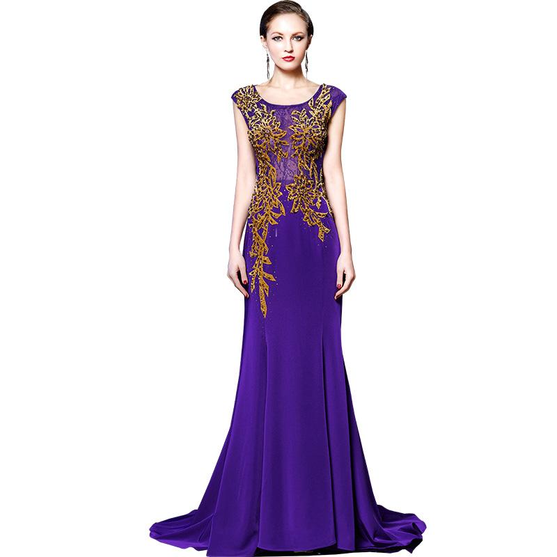 Online Get Cheap Púrpura Vestido De Cóctel Largo ...