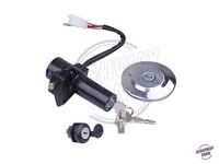 Motorcycle Lock Set Ignition Switch Fuel Cap Motor Seat Lock Keys case for YAMAHA YBR125 YBR 125 2002 2013 free shipping
