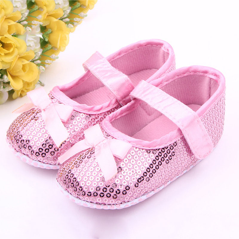 2018 New 0-18M Newborn Baby Girls Princess First Walkers Sneakers Spring Soft Bottom Shoes Casual Infant Toddler Shoes