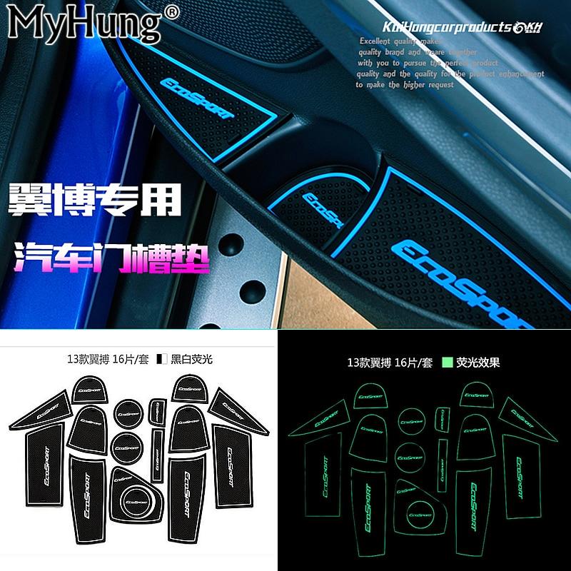 Anti-slip Non-slip Rubber <font><b>Cup</b></font> <font><b>Holder</b></font> Sticker Gate Slot Pad Door Groove Mat for <font><b>Ford</b></font> Ecosport 2013 2014 2015 2016 Car Styling