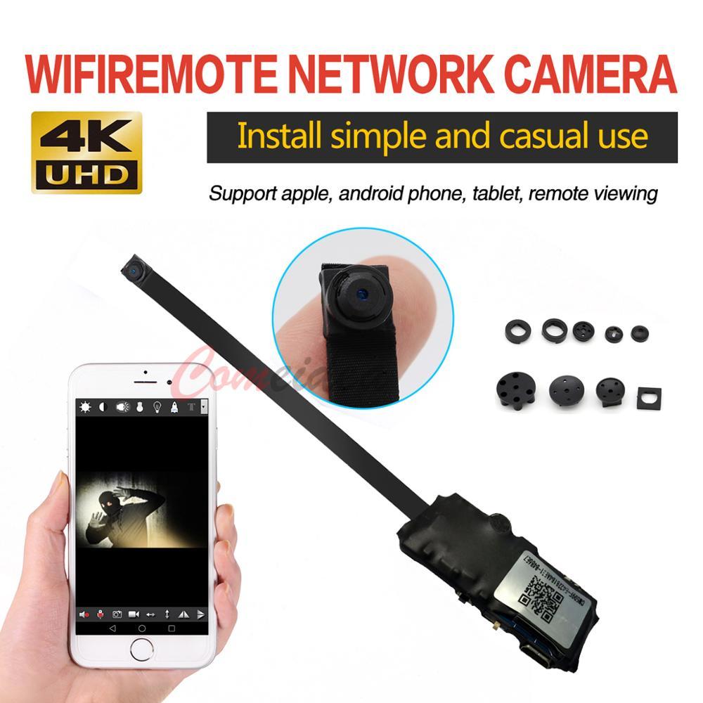 Full HD 4K Mini WiFi IP Camera DIY Button Mini Camera Module Support Remote View TF Card