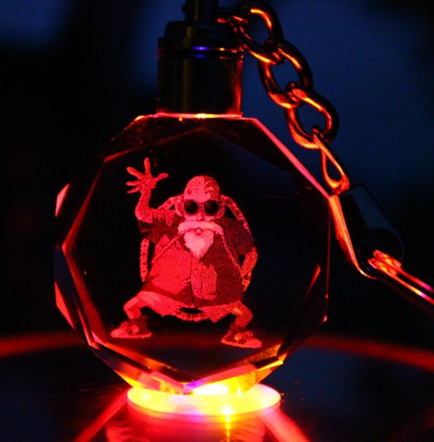 Брелок для ключей с рисунком аниме Dragon Ball Z GK, из смолы, светодиодный фонарик, брелок для ключей, фигурка Вегета Буу, Сона, Гоку, Jr, бурума, игру...