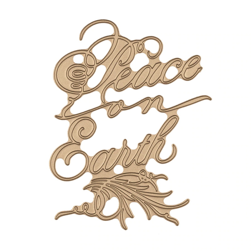 Script Peace on Earth Metal Hot Foil Plate for DIY Scrapbooking Letterpress Embossing Paper Cards Making Crafts New 2019 in Cutting Dies from Home Garden