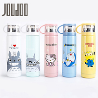 JOUDOO Cute Cartoon Hello Kitty Prinrted Vacuum Flasks 500ml Stainless Steel Thermos Thermal Bottle Cup Children