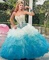 2016 princesa colorida Quinceanera vestidos em camadas Ruffles doce 16 Dresses Vestido De Debutante pará 15 Anos