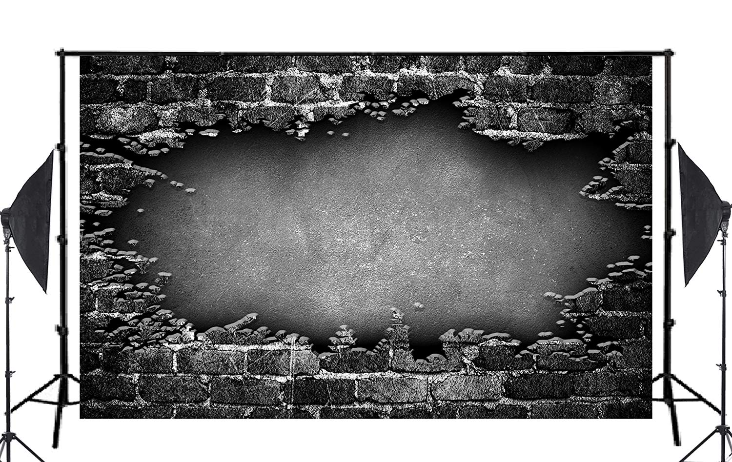Dark Wall Mosaic Broken Floor Brick Wall Photo Background Children Studio Retro Photography Props 150x220cm in Photo Studio Accessories from Consumer Electronics
