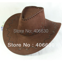 Autumn Mens Large Brim White Suede Western Cowboy Hat Women Sun Cap SDDB016