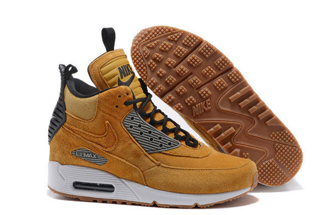 c1a477263e Hot Sale Nike Air Max 90 Sneakerboot Ice Mens Winter Badminton Shoes  Cushioning Shoes,Winter Suede Material High Track Sneakers