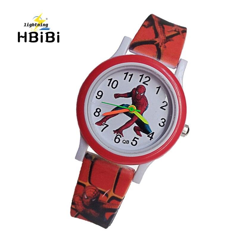 Fashion Spiderman Children Watches For Kids Boys Girls Clock Child Watch Waterproof Analog Acrylic Bracelet Digital Wristwatches